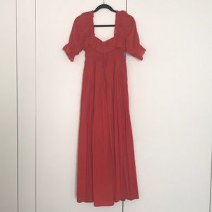 Dôen Bijou Dress Red Sz Small, Like New